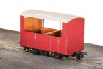 Peco GR-520UR GVT 4-wheel open side coach, plain red, OO-9